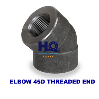 Elbow 45D threaded end 3000# ASME B16.11 ANSI A105