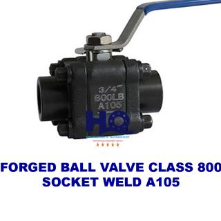 Ball valve forged socket weld class 800 A105