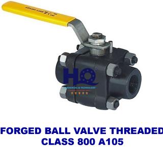 Ball valve forged threaded end class 800 A105