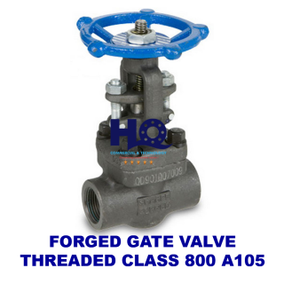 Gate valve forged threaded end class 800 A105