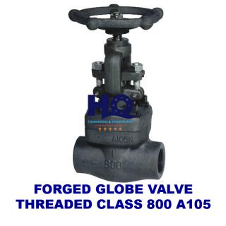 Globe valve forged threaded end class 800 A105