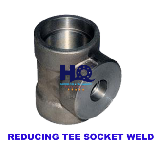 Reducing tee socket weld 3000# ASME B16.11 ANSI A105
