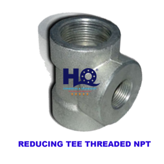 Reducing tee threaded end 3000# ASME B16.11 ANSI A105