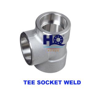 Equal tee socket weld 3000# ASME B16.11 ANSI A105
